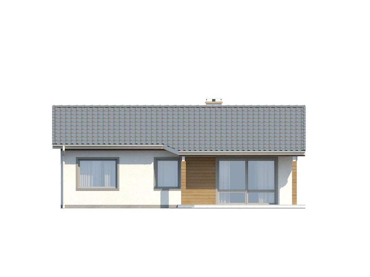 Компактный дом с двускатной крышей — выгодный, функциональный и практичный. 22