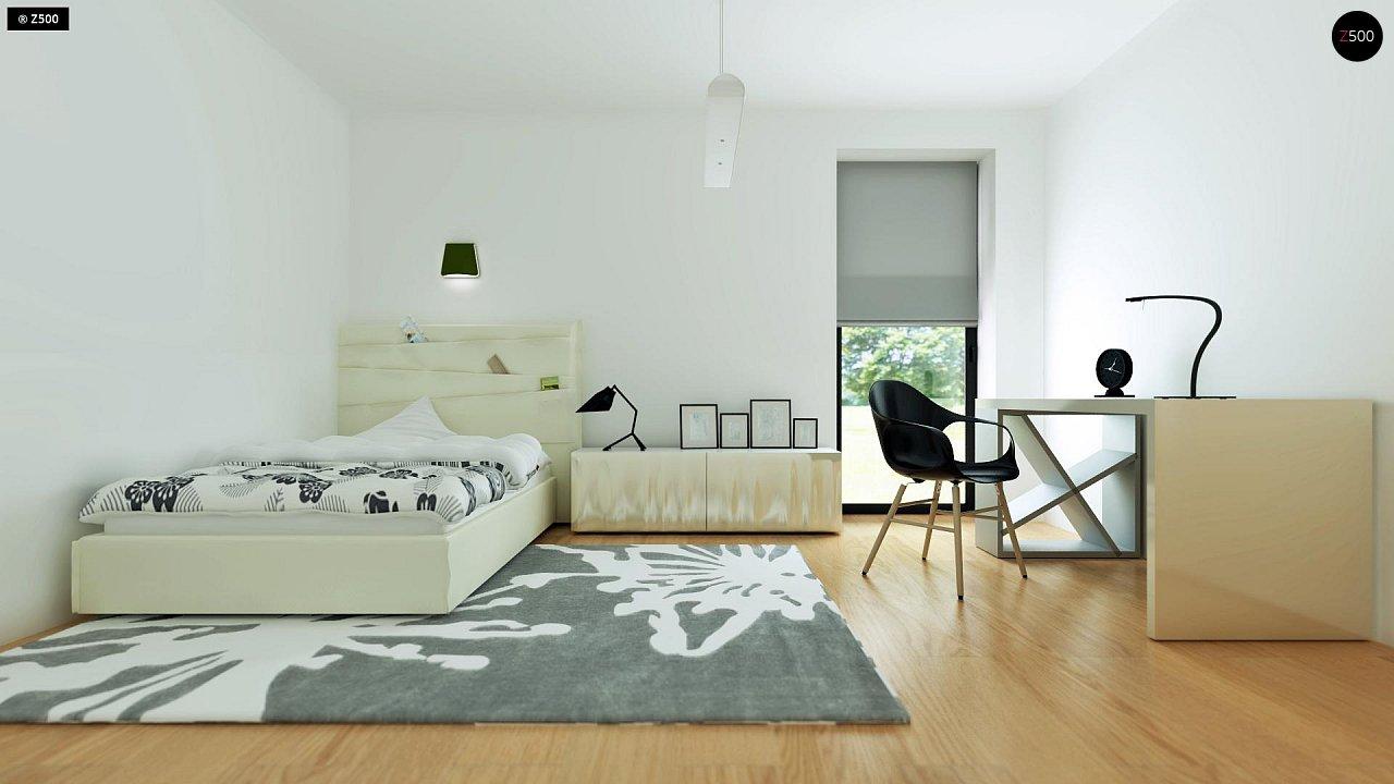 Современный комфортабельный одноэтажный дом с функциональным интерьером и уютной террасой. 22