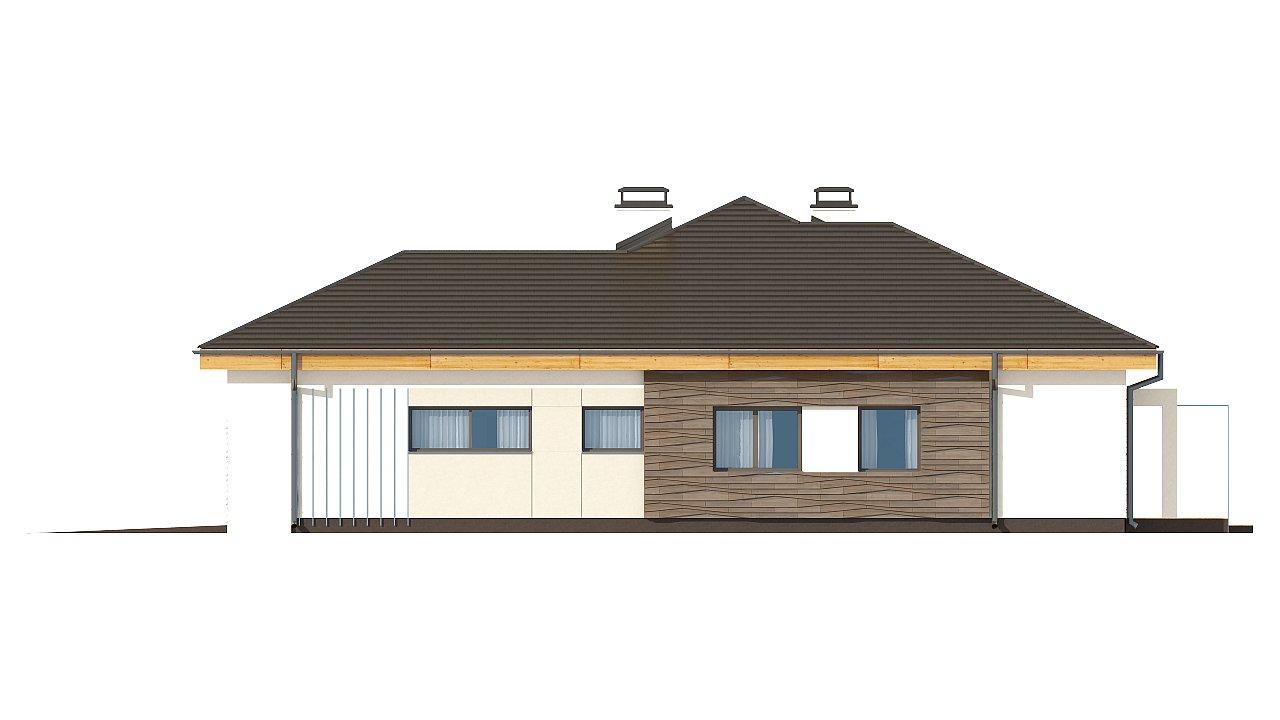 вариант проекта Z96 с измененной формой крыши и с крытой террасой. 12