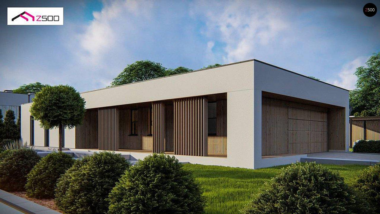 Одноэтажный современный дом с плоской крышей 5