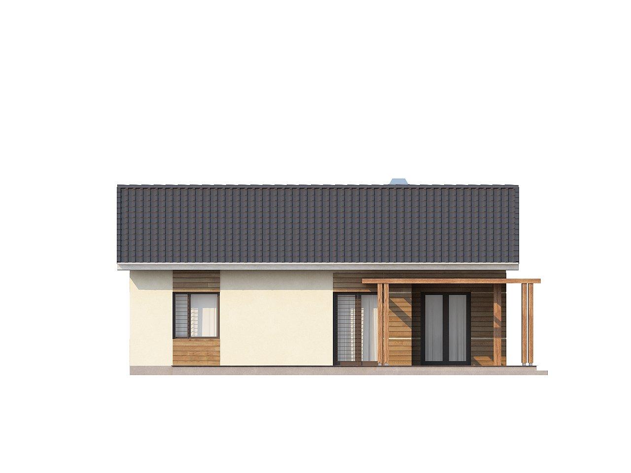 Проект компактного одноэтажного дома, экономичного как в строительстве, так и в эксплуатации. 15