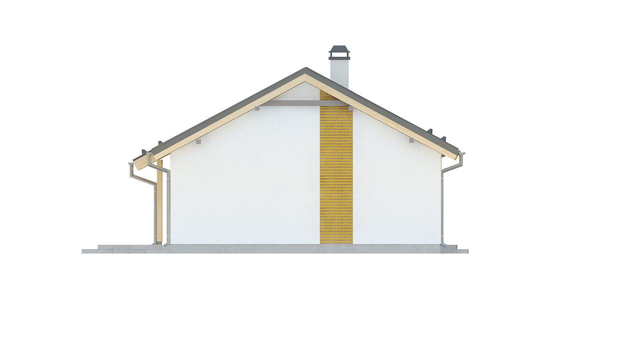Простой и недорогой в строительстве одноэтажный дом небольшой площади. 17