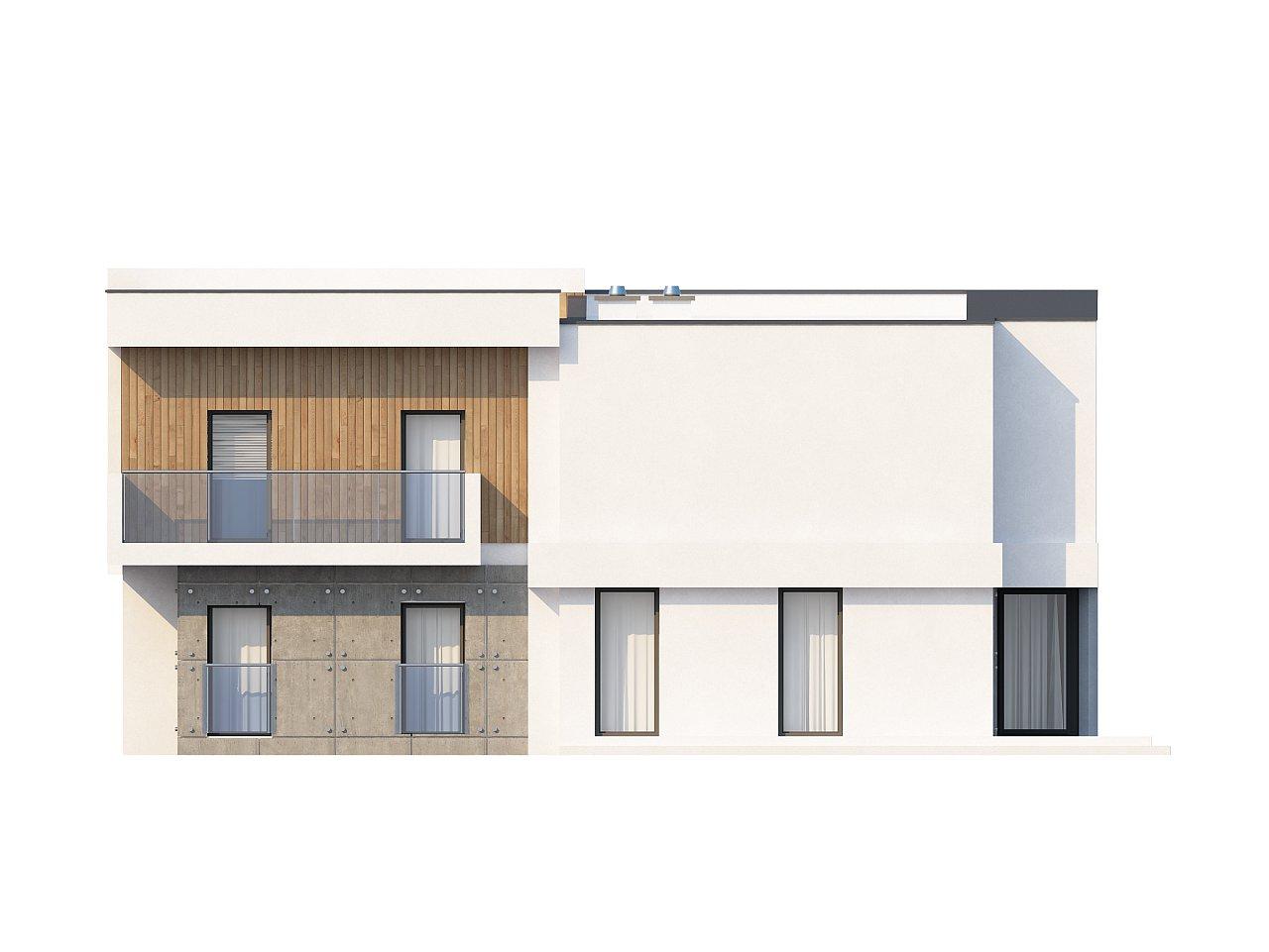 Просторный дом современного дизайна с гаражом и кабинетом на первом этаже. 5