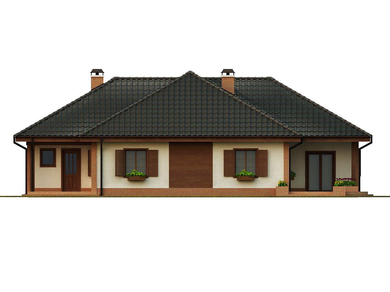 Просторный комфортный одноэтажный дом с гаражом для двух машин. - фото 4
