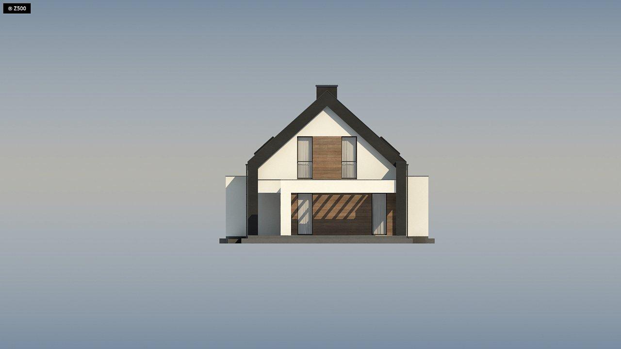 Проект удобного и красивого мансардного дома с гаражом на 2 машини и 3 спальнями. 15