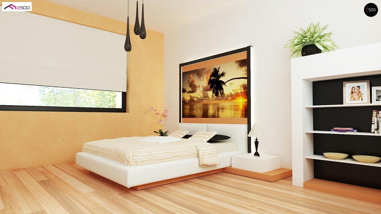 Проект выгодного одноэтажного дома с возможностью адаптации чердачного помещения. 15