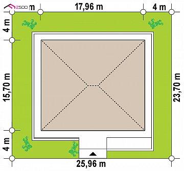 Проект дома с одноуровневой оригинальной планировкой и современным экстерьером. план помещений 1