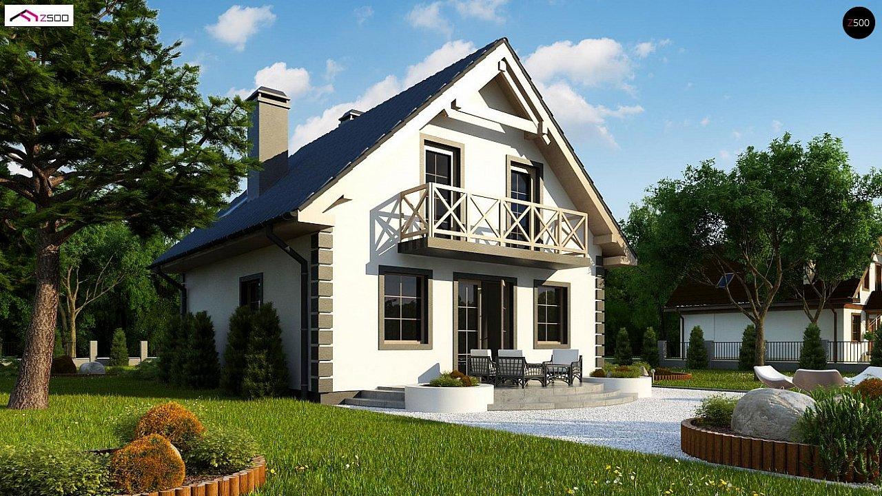 Версия проекта дома Z1 без люкарен. 3
