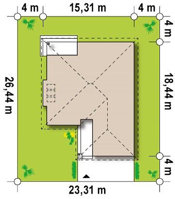 Увеличенная версия типового проекта Z200 план помещений 1