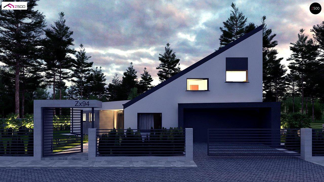 Проект современного дома с вторым светом, стильной кровлей и удобной планировкой. 2