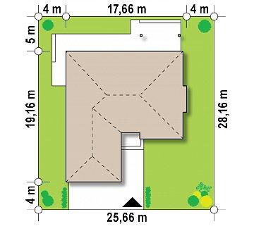 Удобный функциональный одноэтажный дом с гаражом для двух автомобилей. план помещений 1