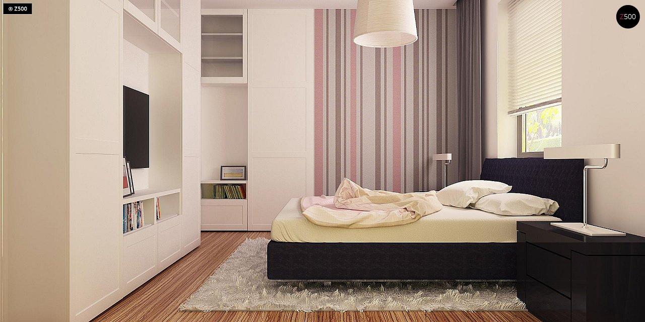 Просторный дом традиционной формы с гаражом и дополнительной небольшой ночной зоной на первом этаже. - фото 9
