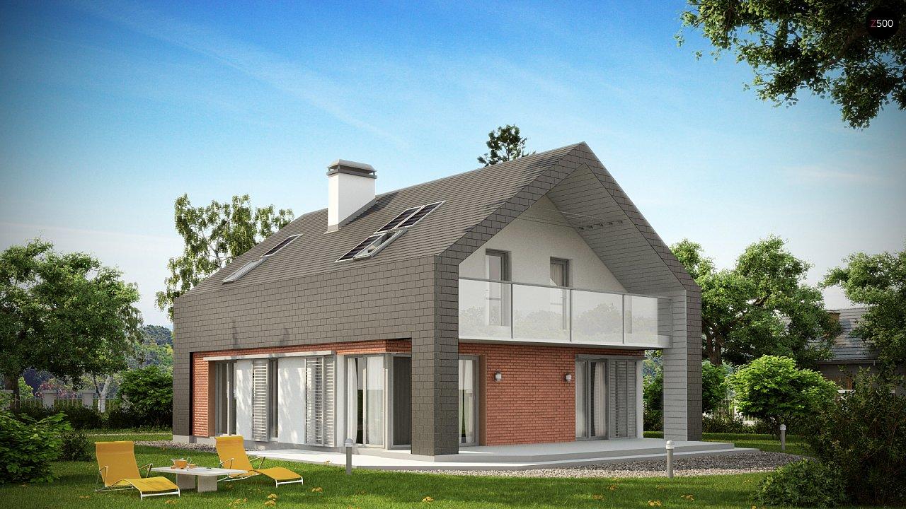 Практичный и уютный дом с модернистскими элементами в архитектуре. 2