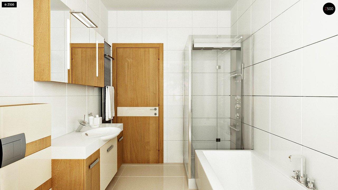 Выгодный компактный одноэтажный дом с угловым окном в кухне. 10
