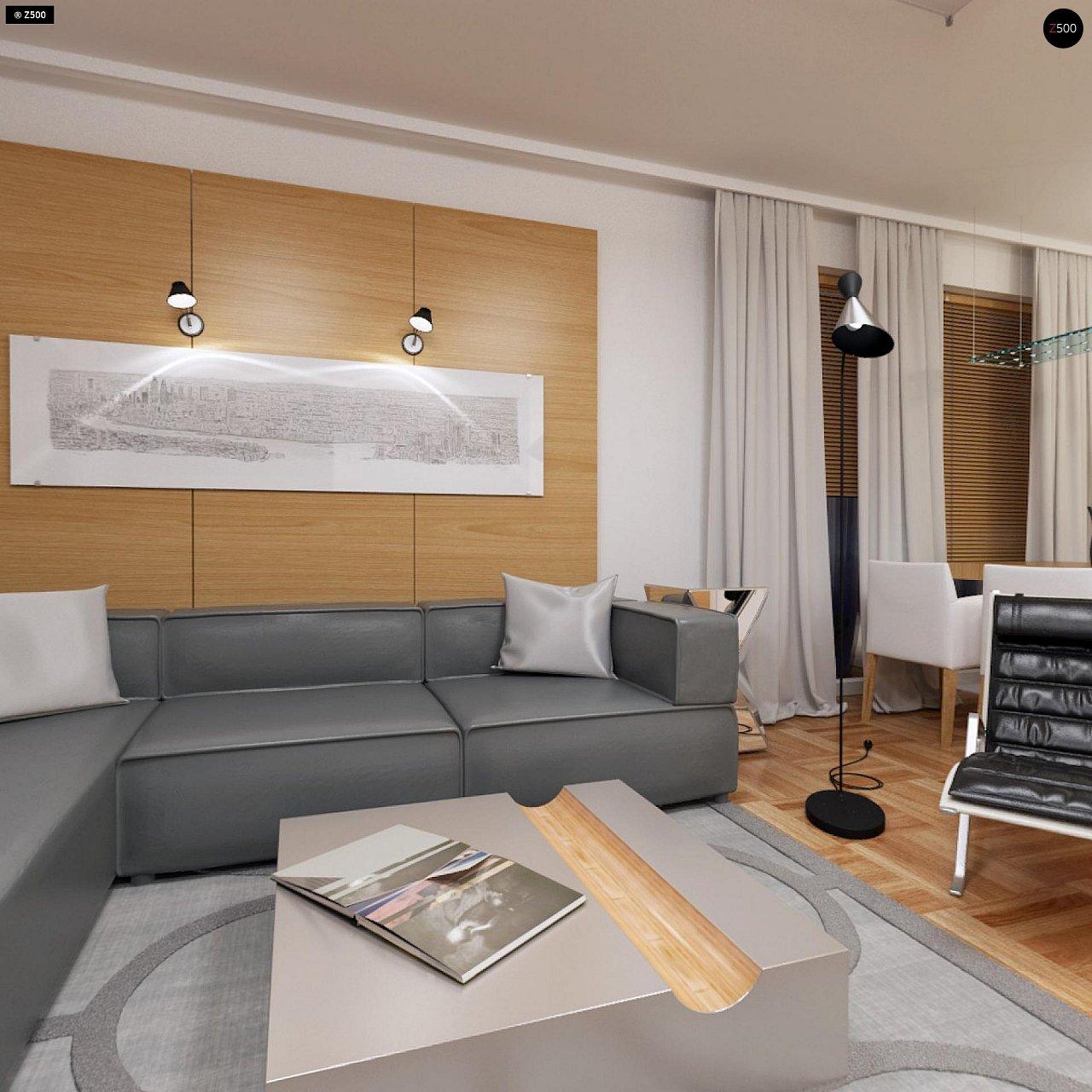 Компактный одноэтажный дом простой формы с возможностью обустройства чердачного помещения. 8