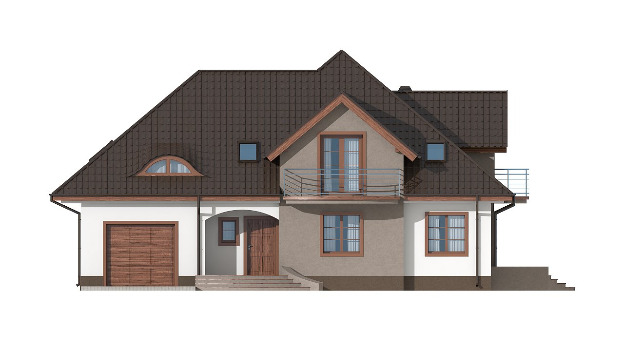 Версия проекта Z18 со встроенным гаражом с левой стороны дома - фото 24