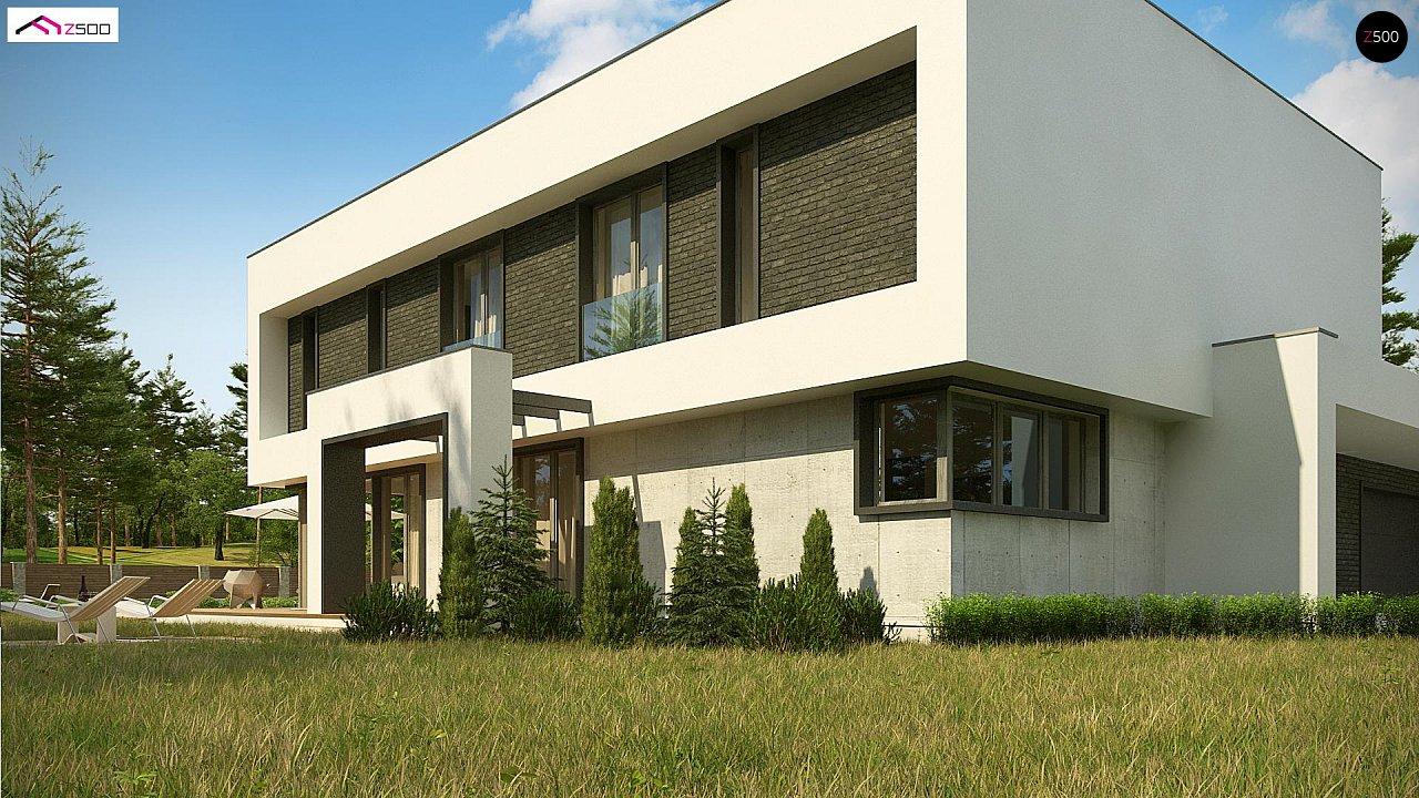 Современный двухэтажный дом с просторной террасой и гаражом на две машины. - фото 8