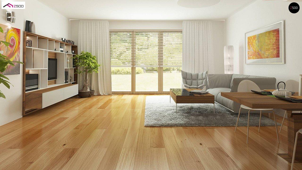 Дом, выполненный в традиционном стиле с одноуровневой планировкой. 10