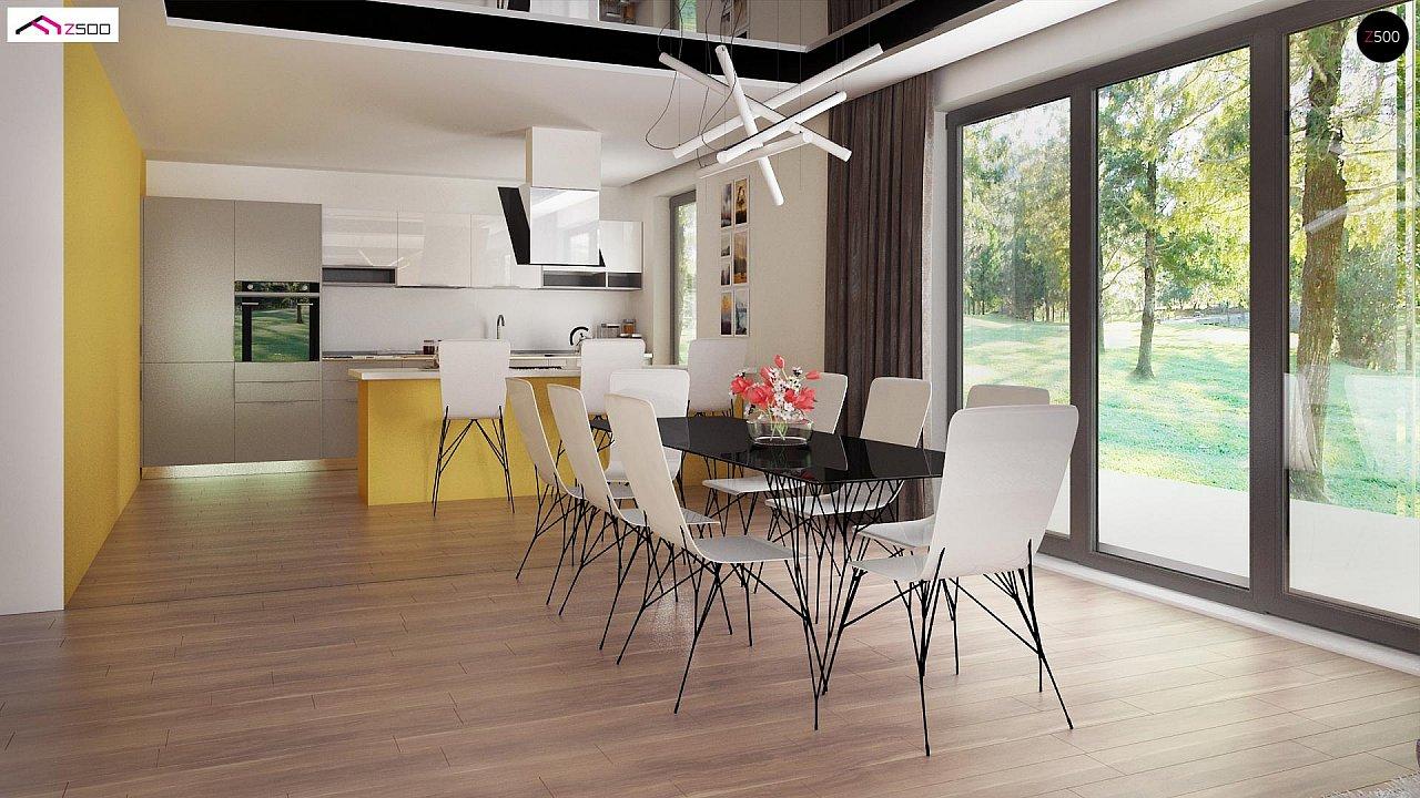 Современный стильный двухэтажный дом, с гаражом для двух машин 11