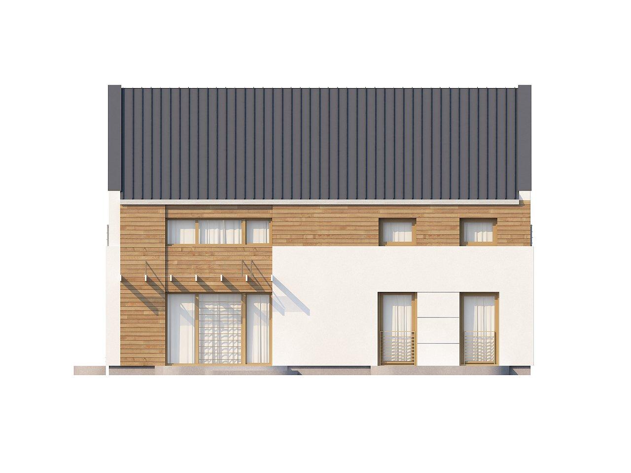 Энергоэффективный дом оригинального дизайна с просторной гостиной. - фото 4
