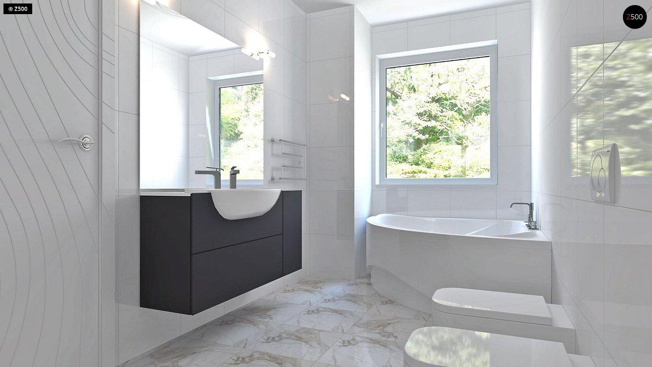 Проект компактного двухэтажного дома строгого современного стиля. 15
