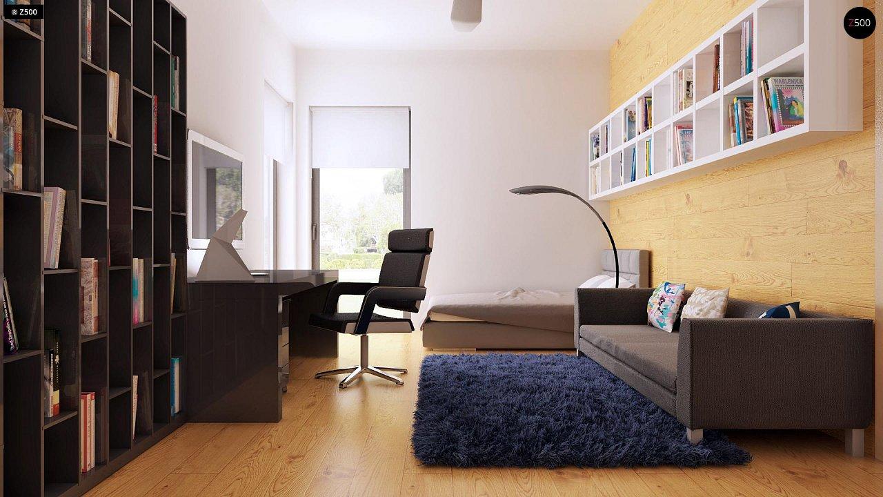 Одноэтажный дом модернистского характера с гаражом для двух автомобилей. 19