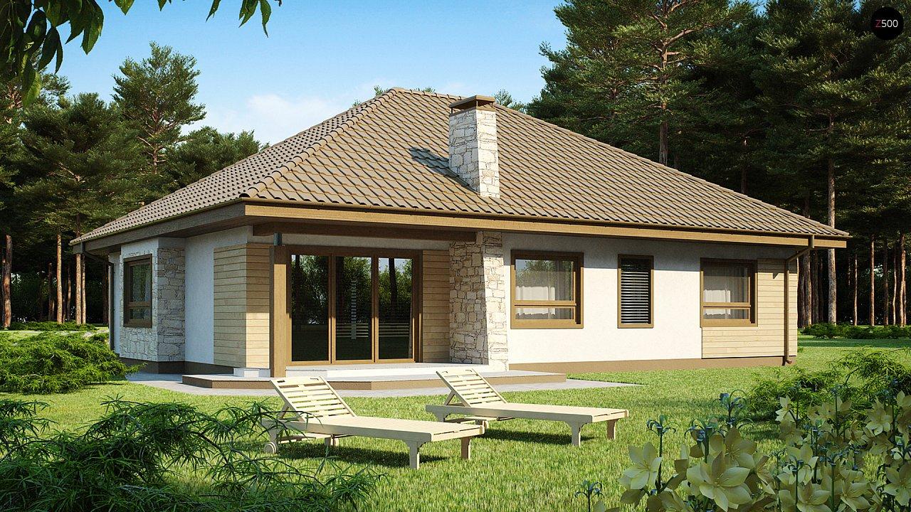 Одноэтажный удобный дом с фронтальным гаражом, с возможностью обустройства мансарды. - фото 1