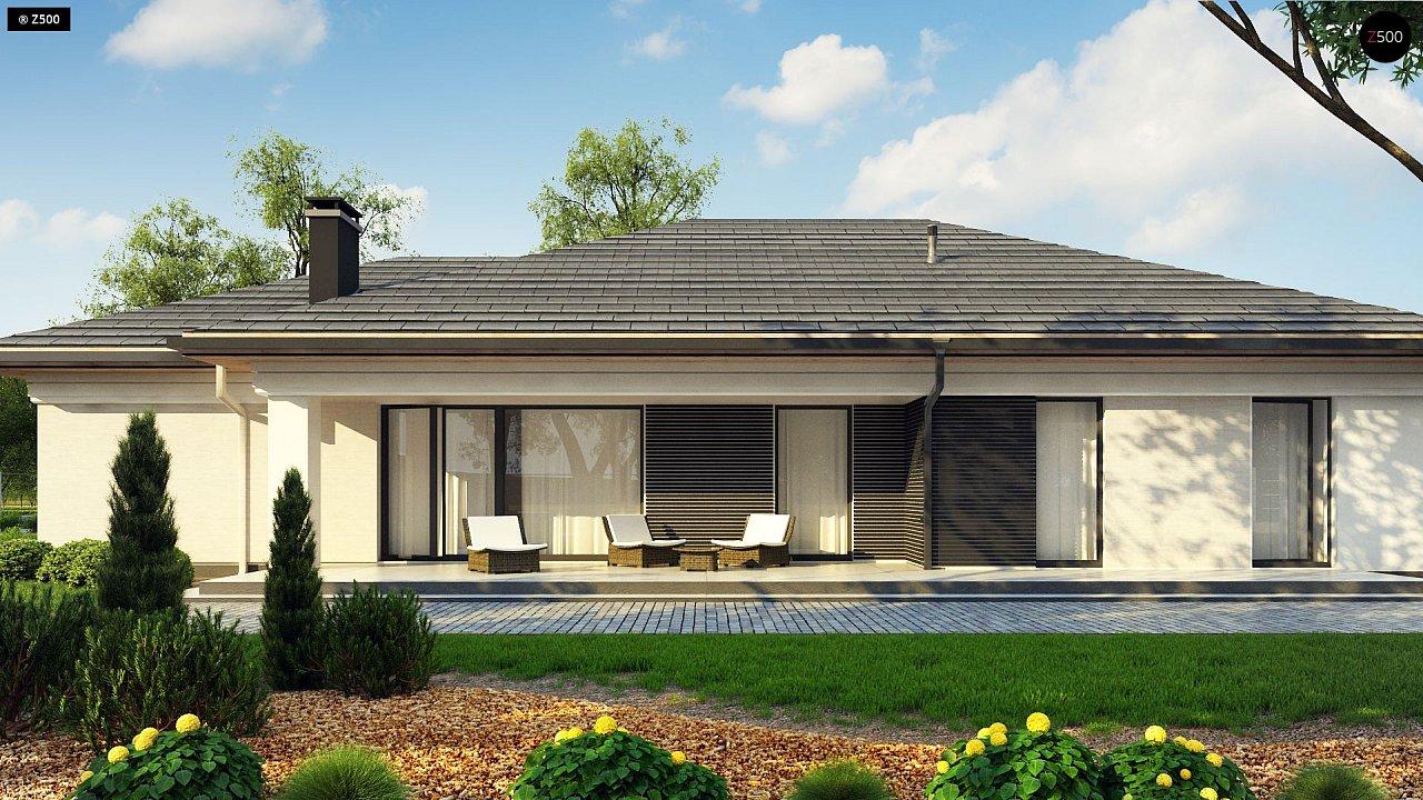 Прекрасный одноэтажный дом в современном стиле и гаражом на одну машину. - фото 5