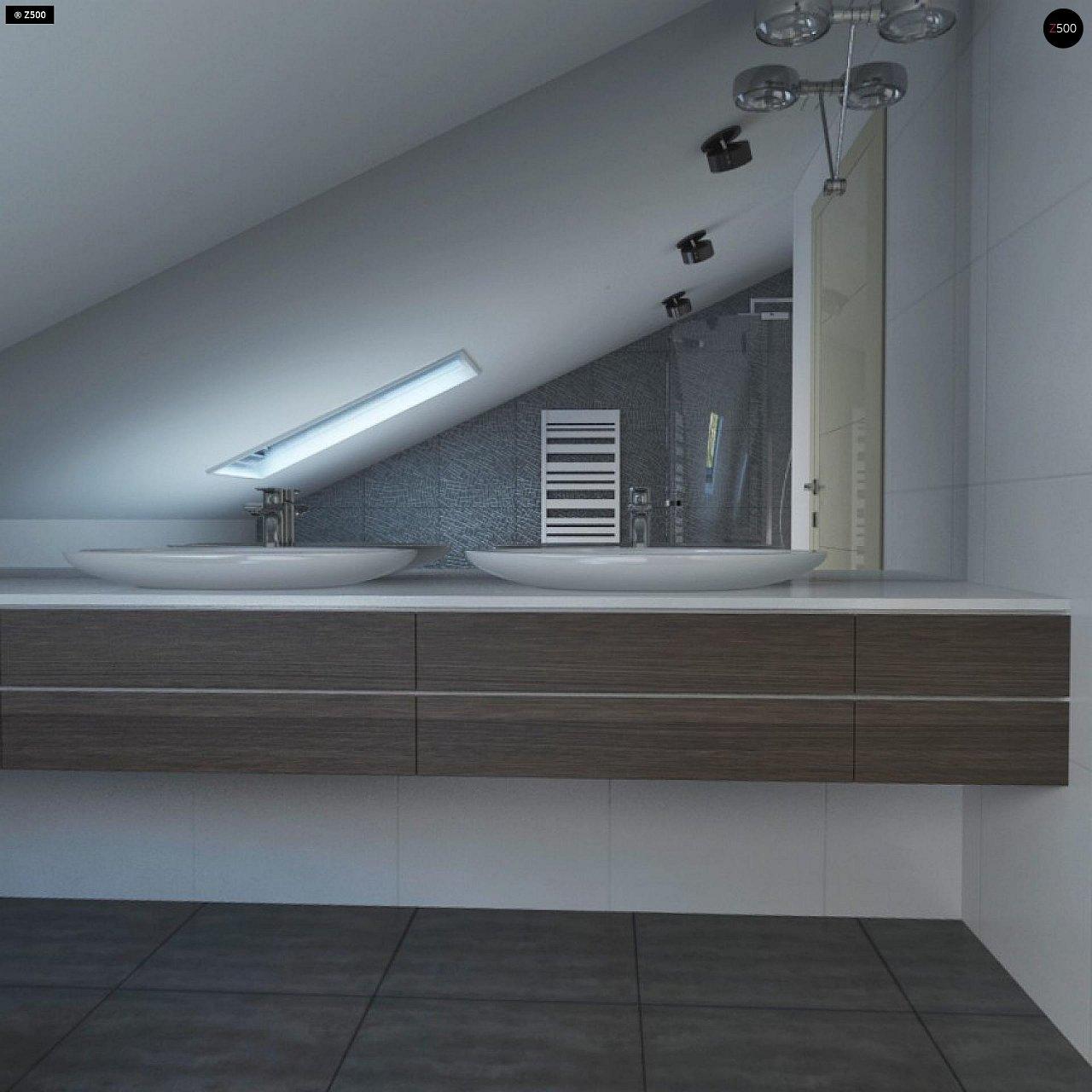 Проект функционального и удобного дома с комнатой над гаражом. 15