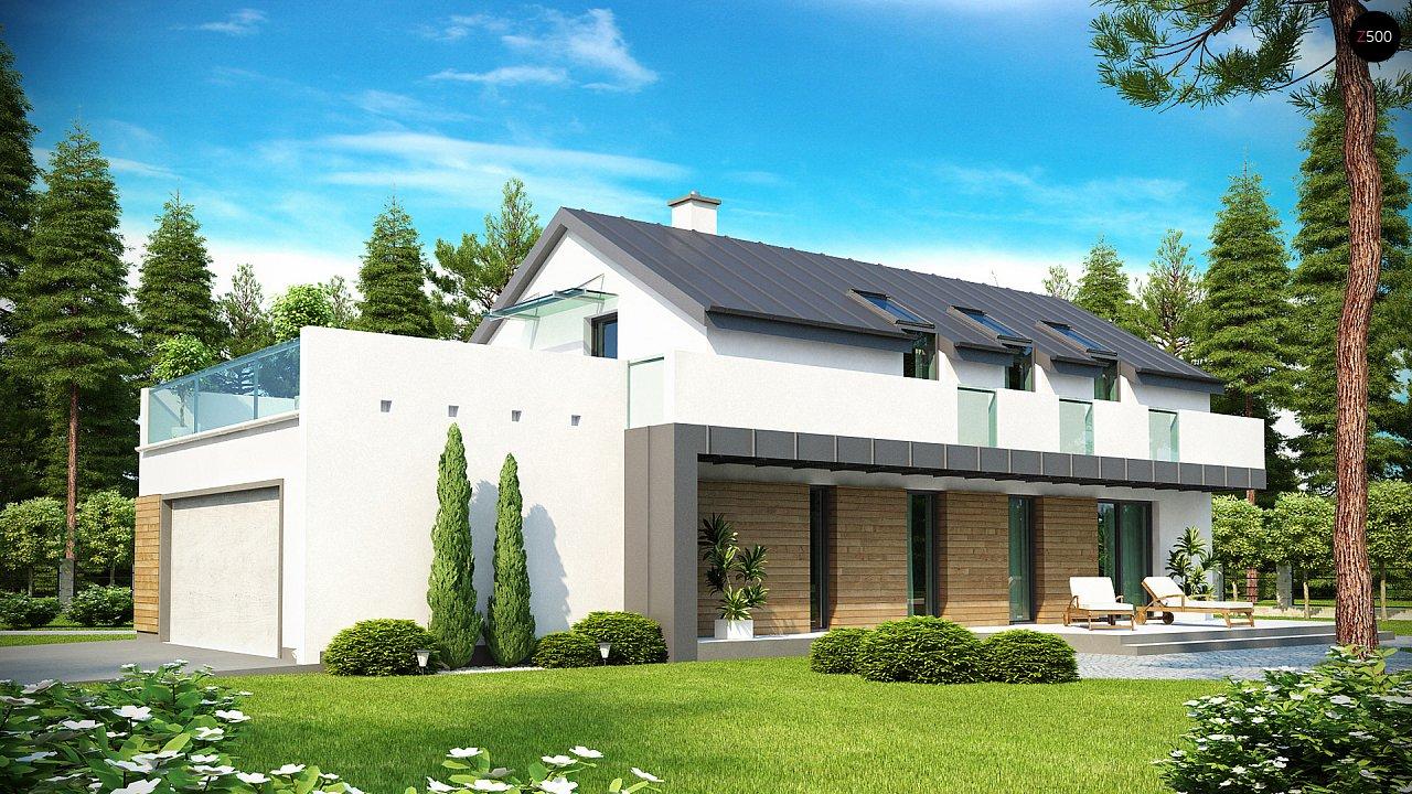 Дом современного простого дизайна. Продольная форма, уютный комфортный интерьер. - фото 2