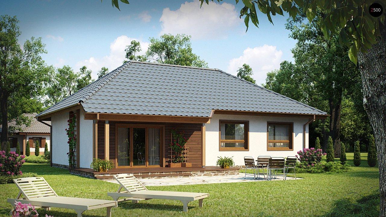 Проект практичного одноэтажного дома в традиционном стиле. 1