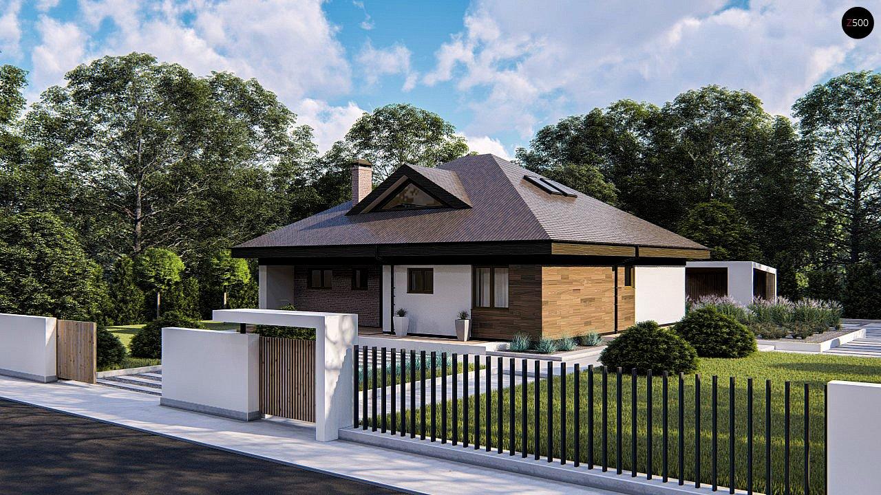 Комфортный одноэтажный дом с мансардой 2