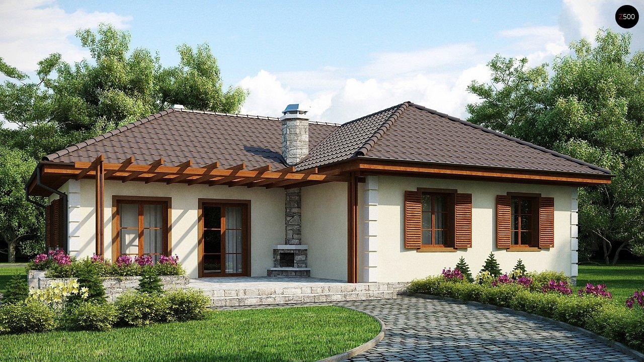 Добротный практичный одноэтажный дом с возможностью обустройства мансарды. - фото 1