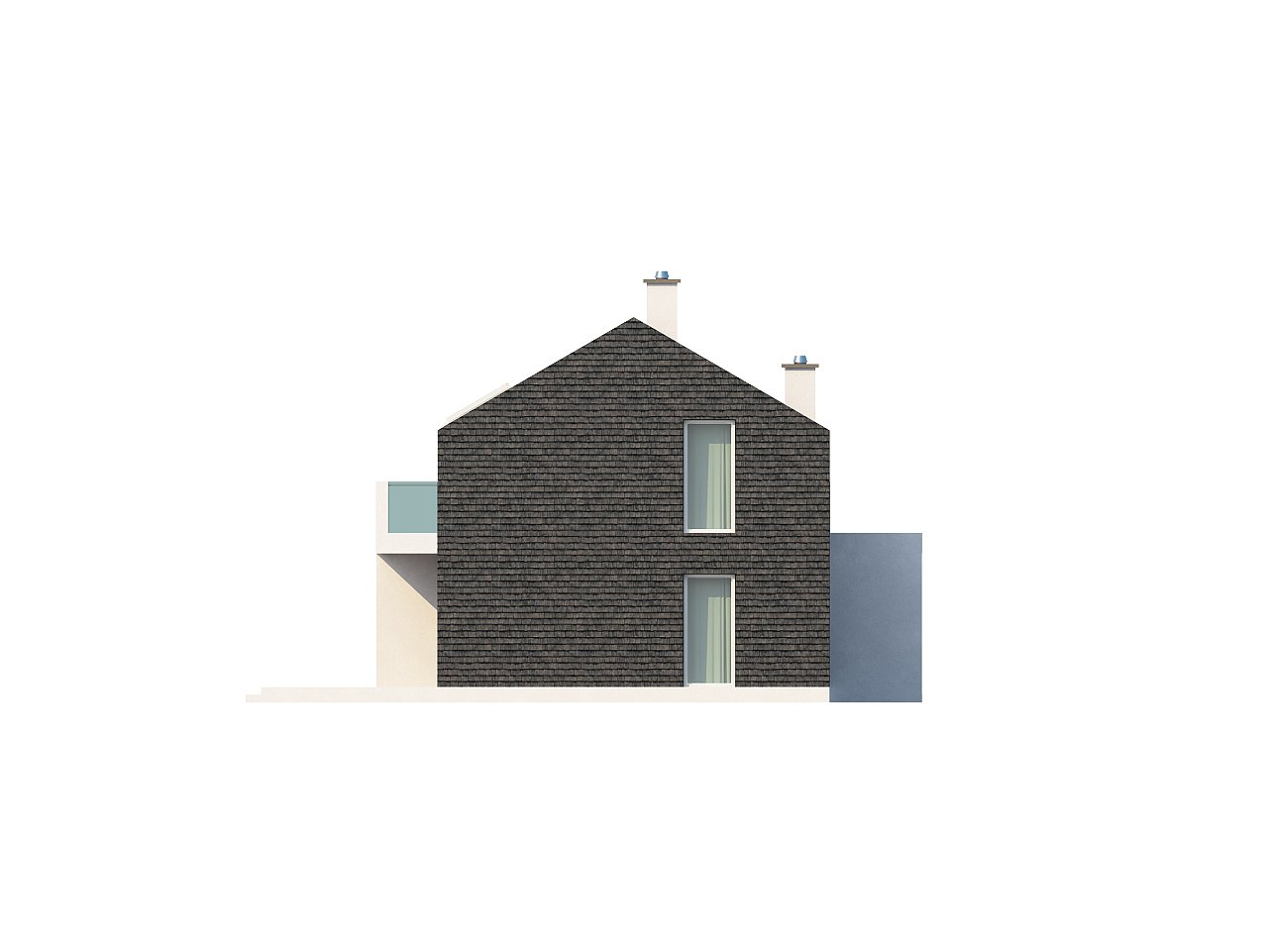 Современный эксклюзивный дом с каменной облицовкой, подходящий для узкого участка. 16