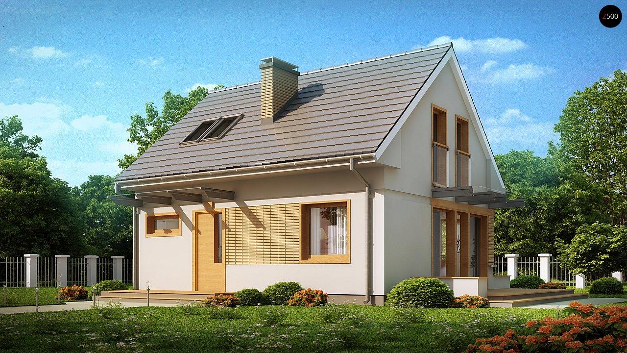 Компактный дом с дополнительной спальней на первом этаже, простой в строительстве, недорогой в эксплуатации. 2