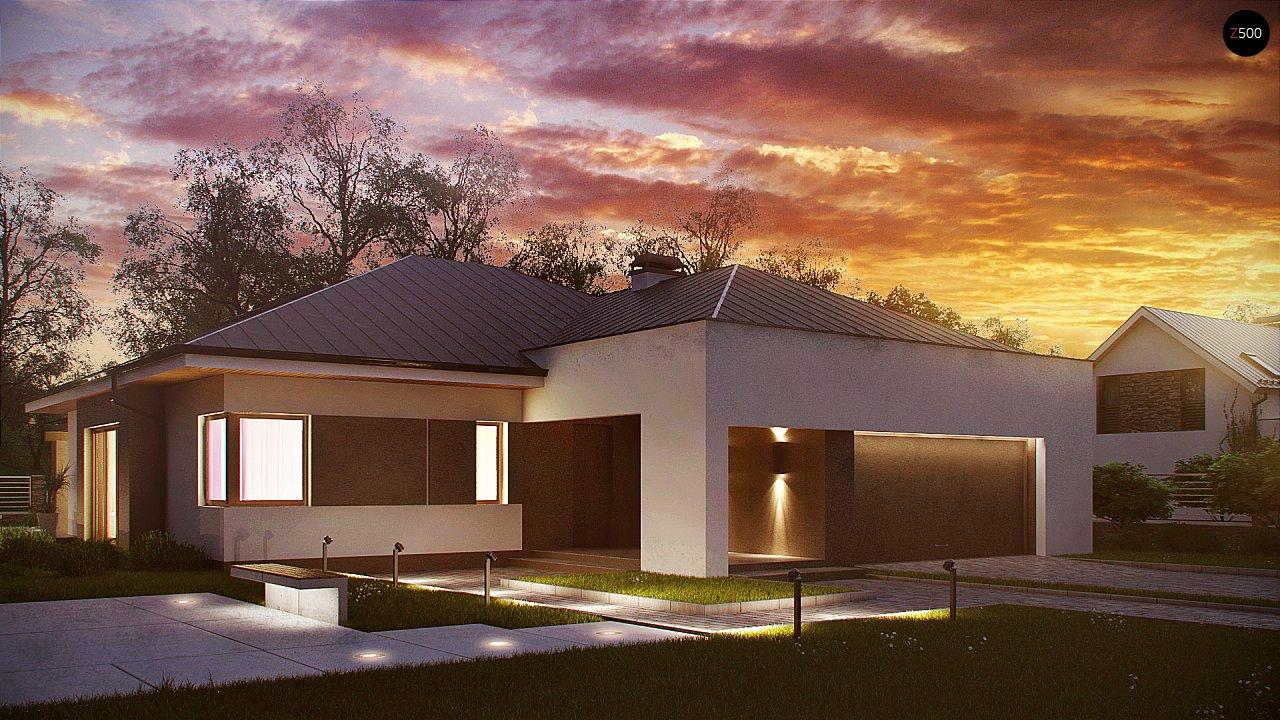 Комфортный элегантный дом с тремя спальнями и выступающим фронтальным гаражом. 1