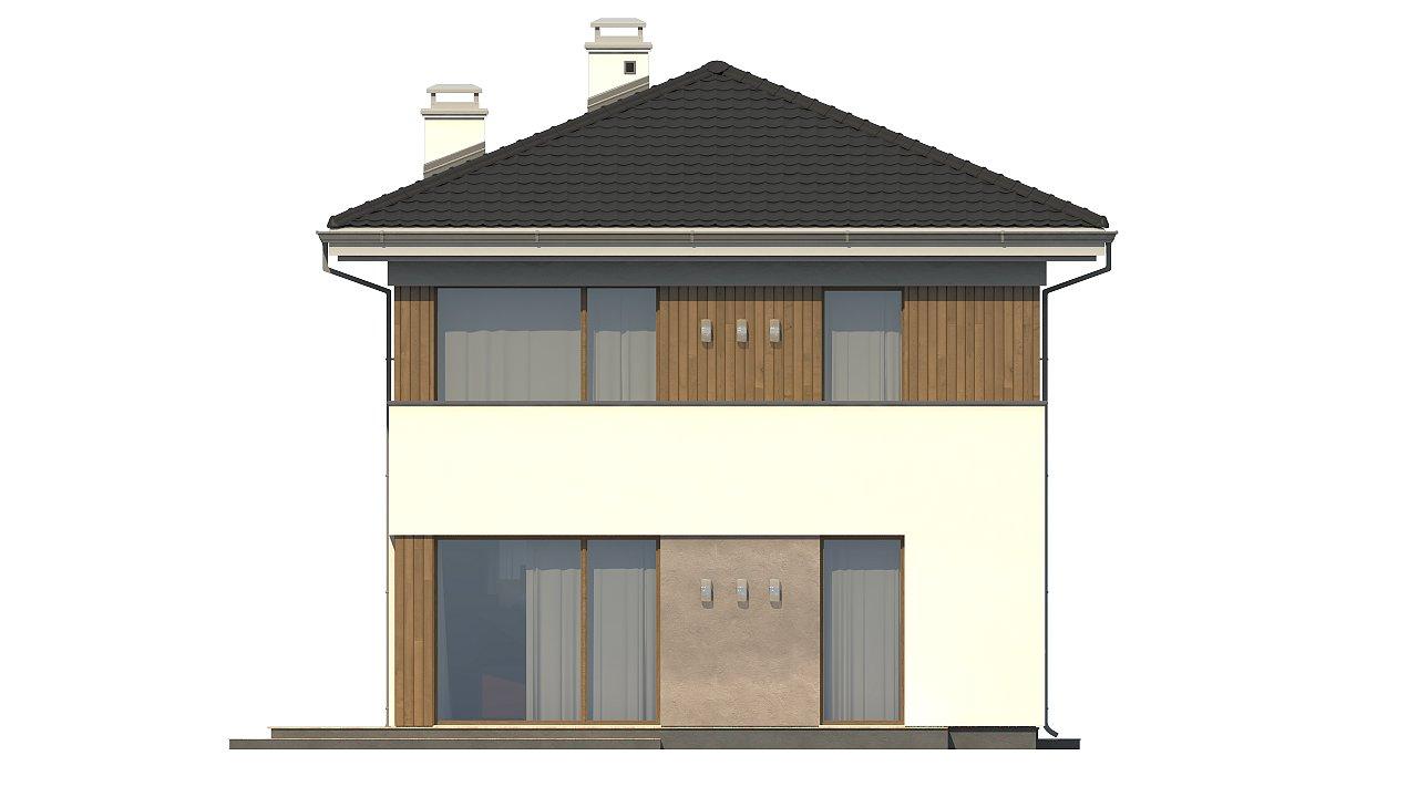 Проект компактного двухэтажного дома строгого современного стиля. 22