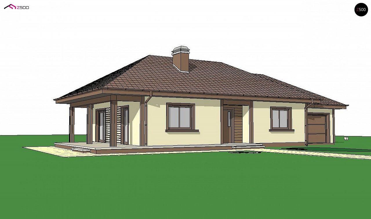 Уютный одноэтажный дом с гаражом на одну машину 3