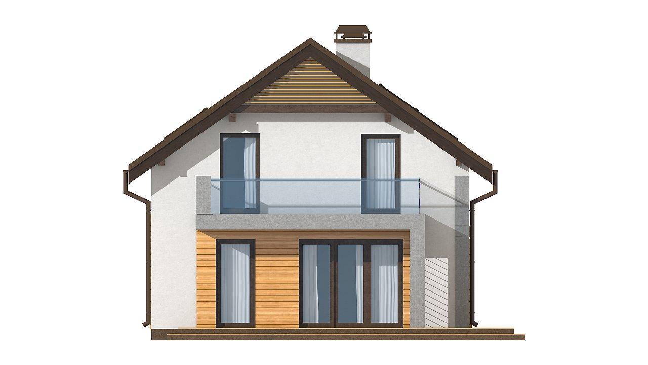Вариант мансардного дома Z149 без гаража 15