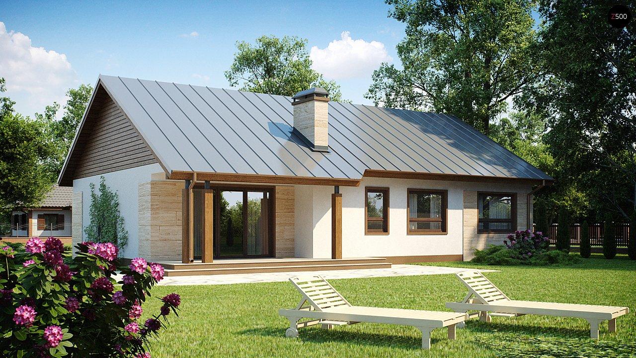 Проект выгодного одноэтажного дома с возможностью адаптации чердачного помещения. 1