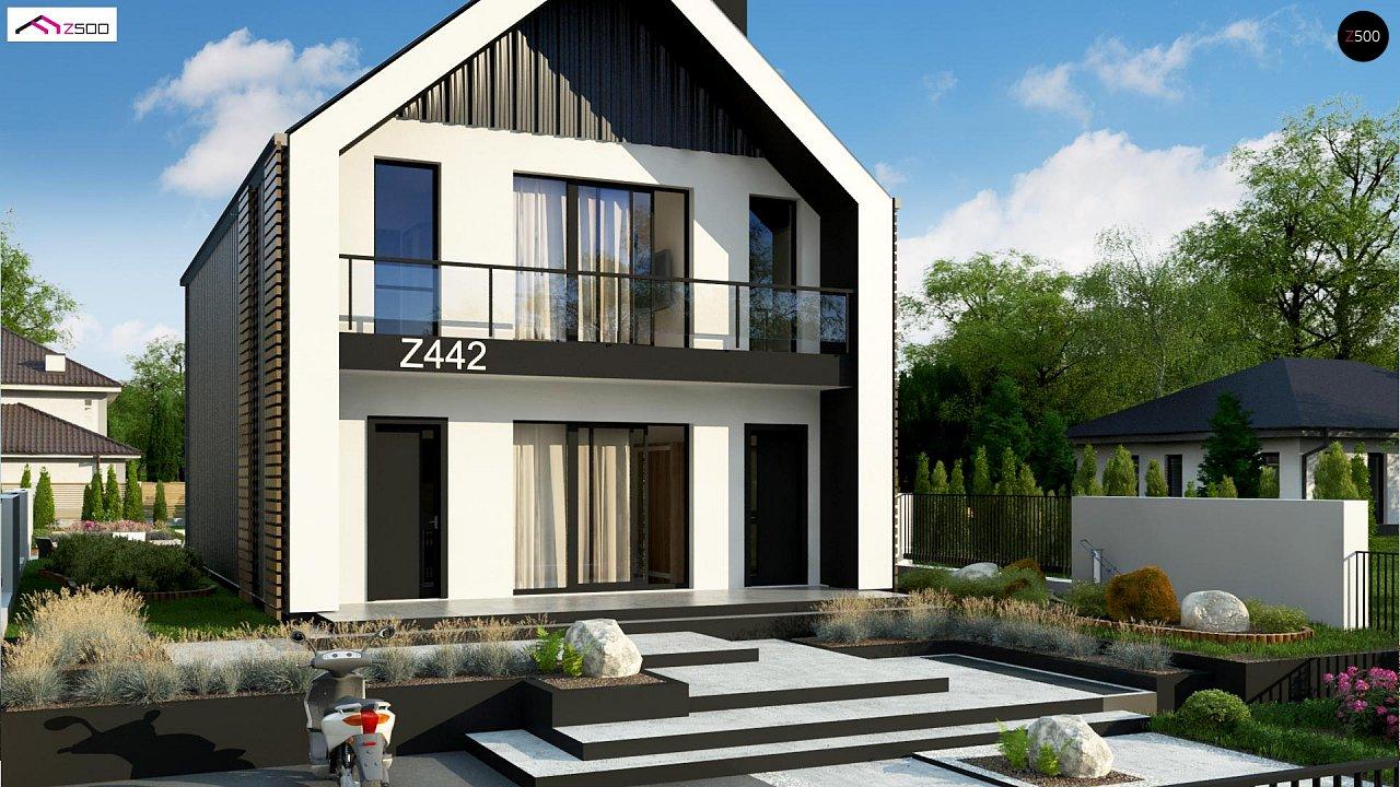 Двухэтажный дом в современном стиле для узкого участка. - фото 4