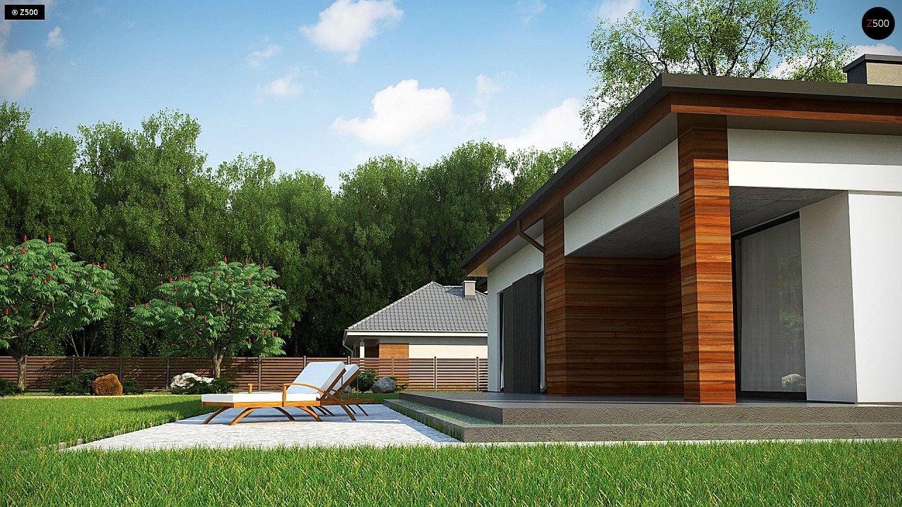 Удобный одноэтажный дом небольшой площади 5