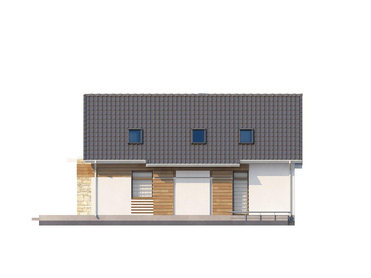 Функциональный дом с кабинетом на первом этаже, удобный для участка с южным въездом. 10