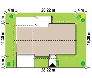 Версия проекта Z287 c большим гаражным помещением. план помещений 1
