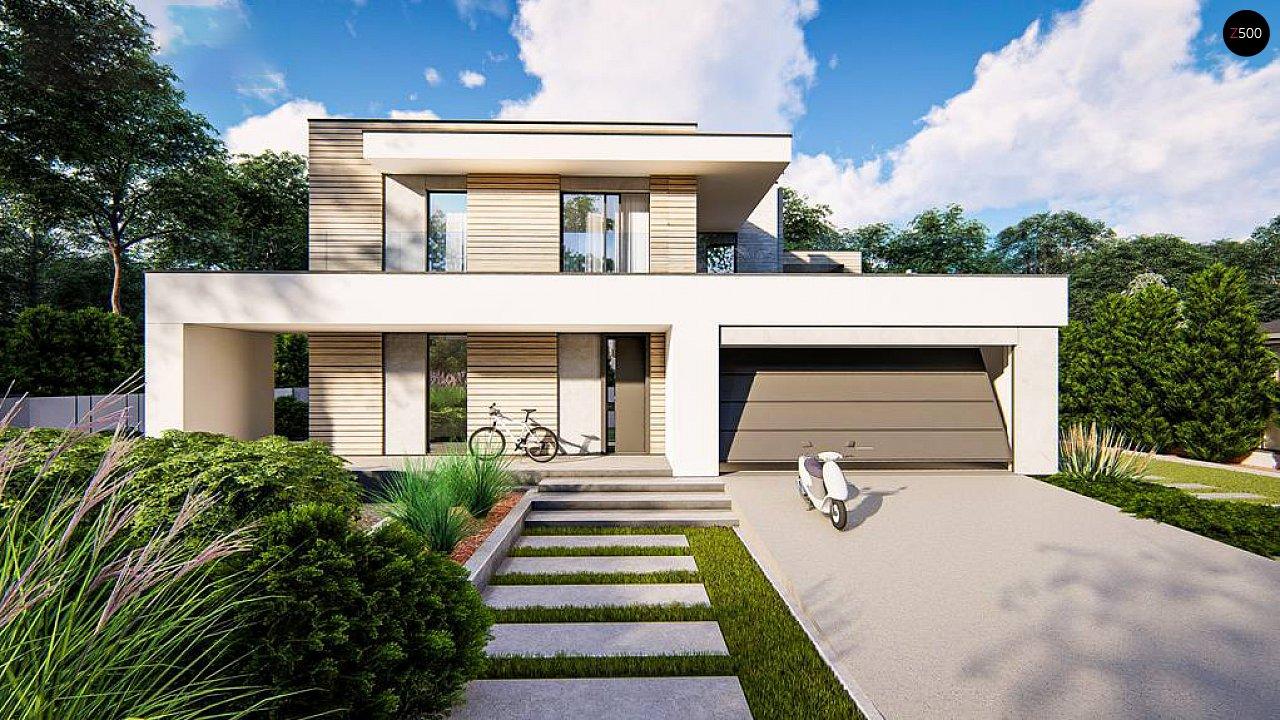 Современный двухэтажный дом с плоской крышей и гаражом на 2 машины. 7