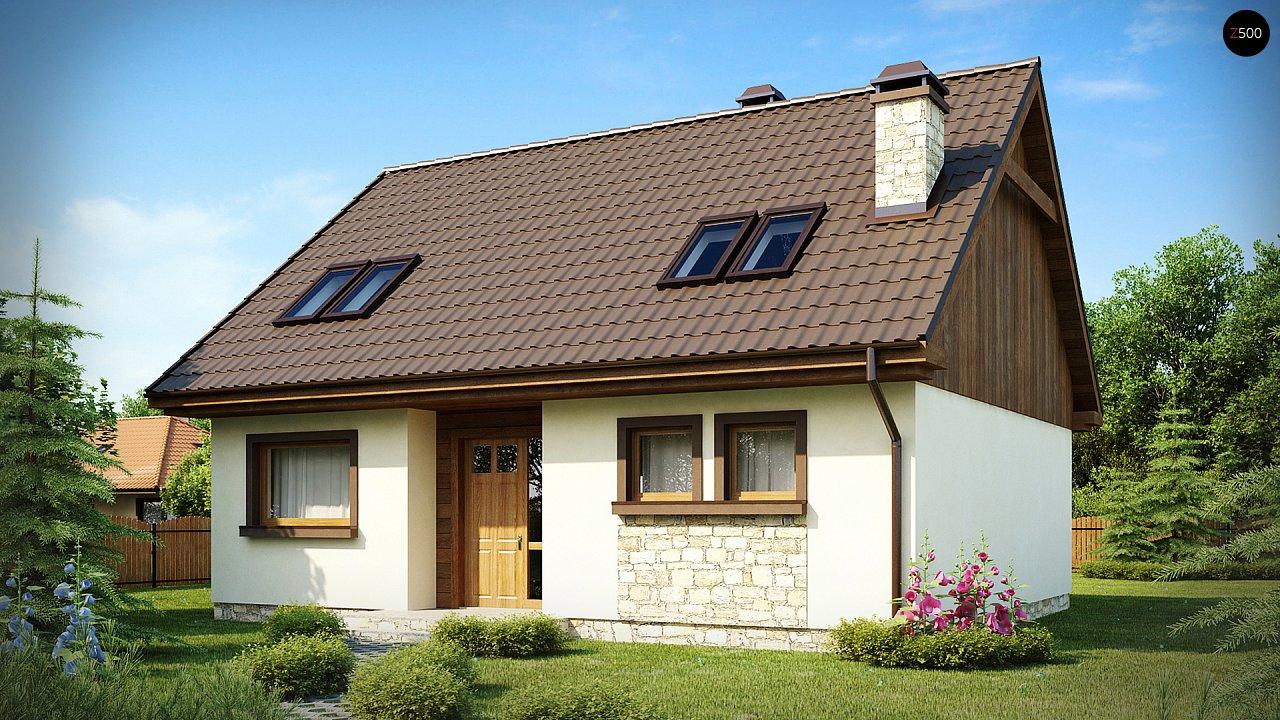 Выгодный и простой в строительстве дом с эркером в дневной зоне. 2