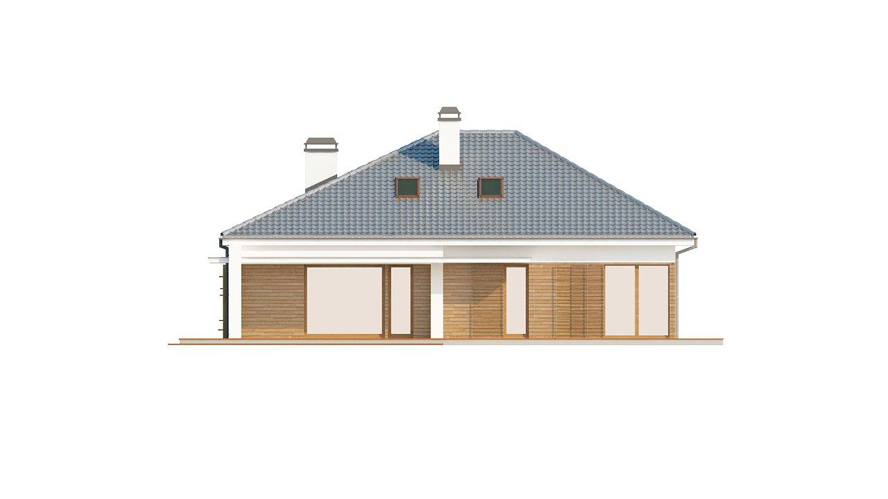 Практичный одноэтажный дом с гаражом, с возможностью адаптации мансарды. 4