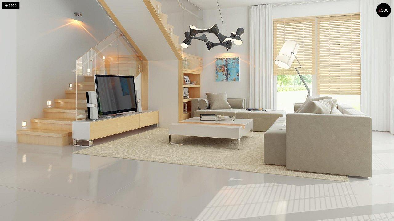 Добротный особняк модернистского характера с большой площадью остекления. - фото 5