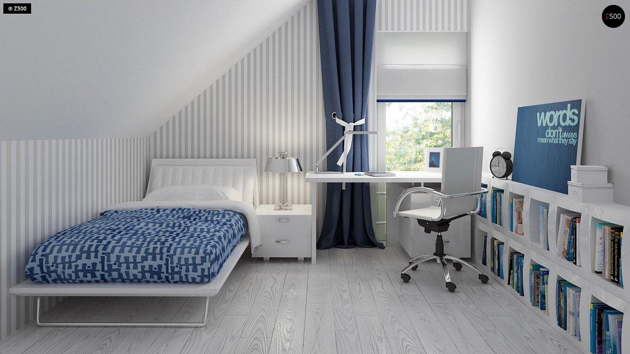 Дом с мансардным этажом, адаптированный для сейсмоопасных регионов. 11
