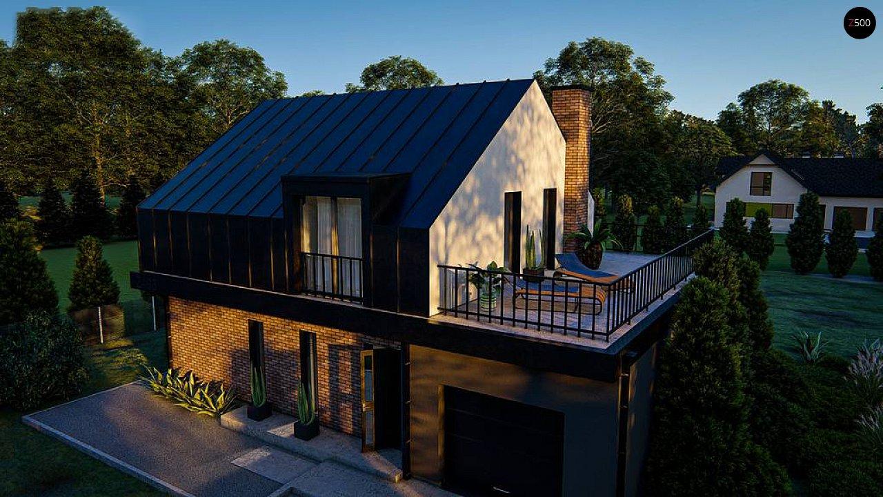 Дом с мансардой, гаражом и большой террасой 3